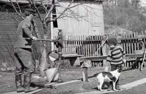 A photo of a backyard well used in the video. Photo credit: Wisconsin Historical Society, WHS108018
